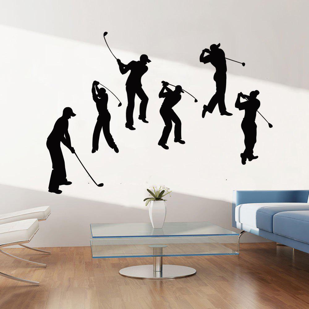 Sticker de décoration murale de décoration de sport de golf