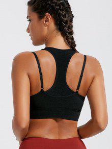 حمالة الصدر رياضية الشريط مبطن  - أسود S