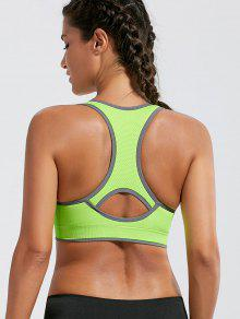 Paded Racerback High Impact Sports Bra - Bright Yellow S
