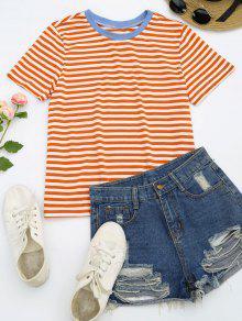 Short Sleeve Stripes T-shirt - Stripe S