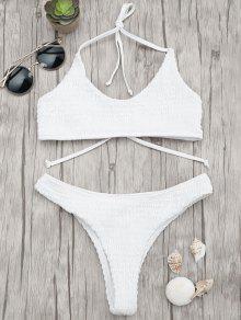 Juego De Bikini Bralette Acolchado Acolchado - Blanco S