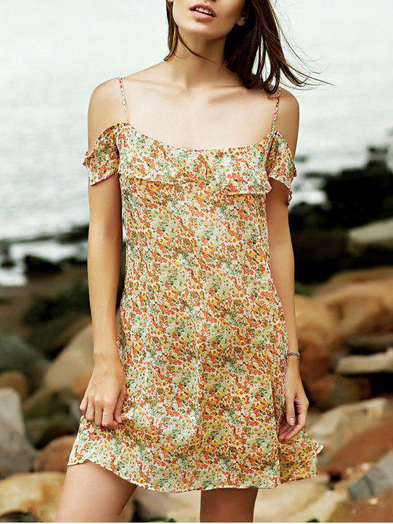 Minuscule Floral Cami Ruffles Dress - Multicolore M