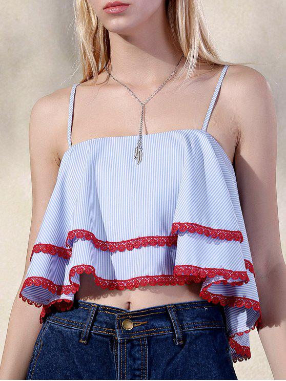 Layered Ruffle Top - colori misti M