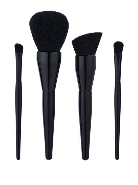 4Pcs Kürbis geformte Griff Make-up Pinsel Set - Schwarz