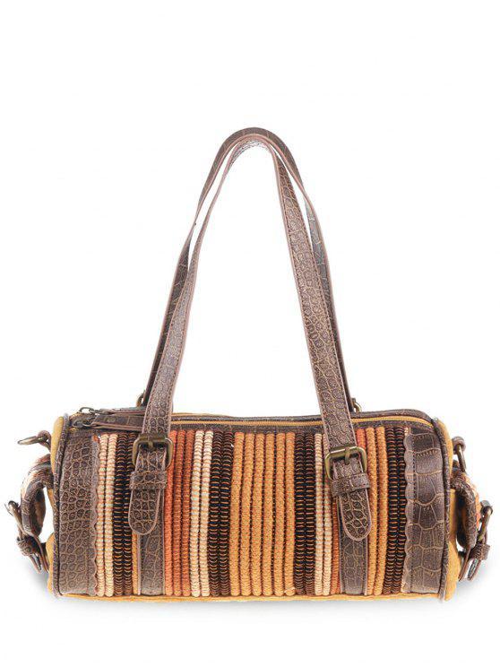 Cilíntro tribal en forma de bolsa de lona - Jengibre