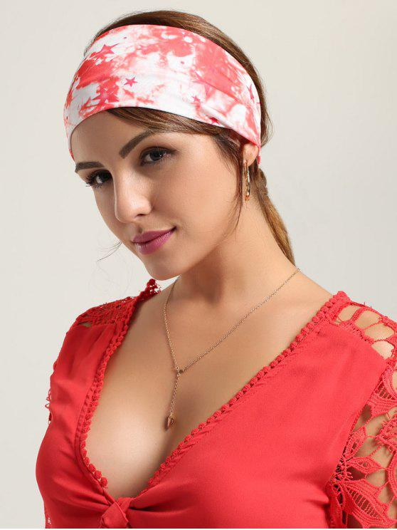 outfit Smog Pattern Printed Sport Headband - RED