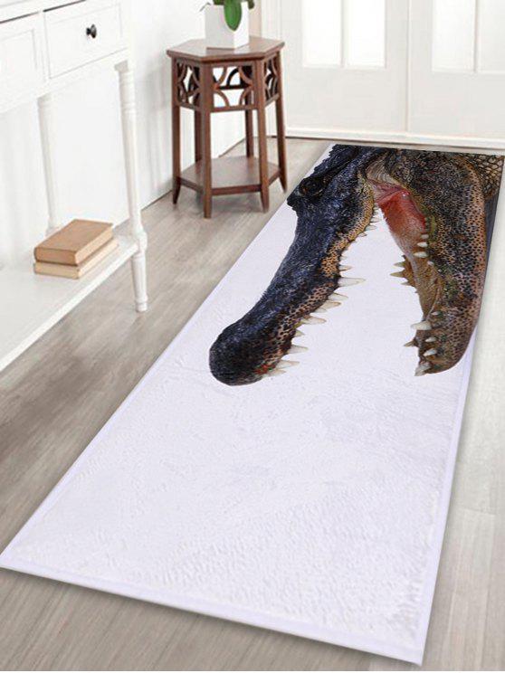 التمساح مطبخ الحمام الطابق مساحة كبيرة البساط - أبيض W16 بوصة * L47 بوصة