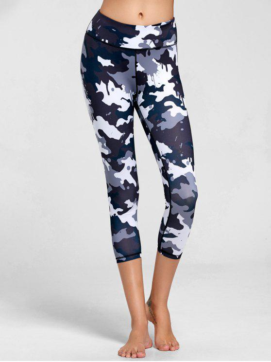31ff50c17a5ce 23% OFF] 2019 High Rise Camouflage Print Sports Leggings In BLACK ...