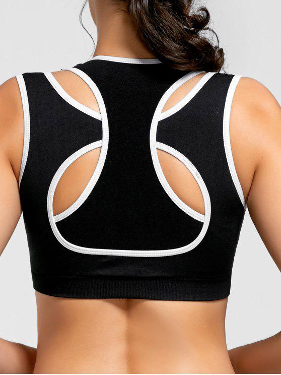 على النقيض من اثنين من الطبقات حمالة الصدر مبطن الرياضة - أسود L
