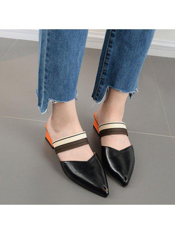 clearance in China cheap real Chunky Heel Almond Toe Mules Shoes - Black 40 sale deals buy online new perfect sale online JKwcrXyu