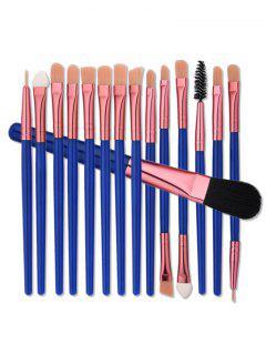 Ensemble De Brosse à Maquillage En Nylon Pour Les Yeux - Bleu