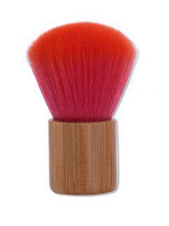 Nylon Bamboo Handle Makeup Powder Brush - Red