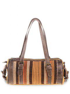 Tribal Cylinder Shaped Canvas Tote Bag - Ginger