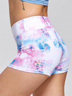 Tie Dye Sports Mini Tights - Pink M