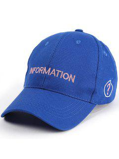 Letters Question Mark Embroidery Baseball Hat - Blue
