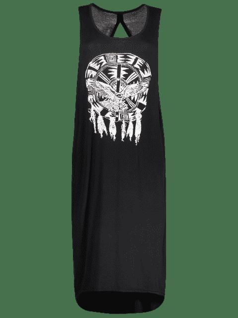 hot Drop Armhole Tank Dress - BLACK L Mobile
