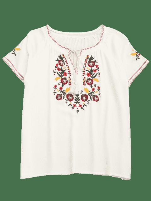 T-shirt à manches courtes en coton - Blanc L Mobile