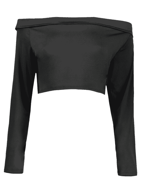 womens Front Twist Off The Shoulder Cropped T-Shirt -   Mobile