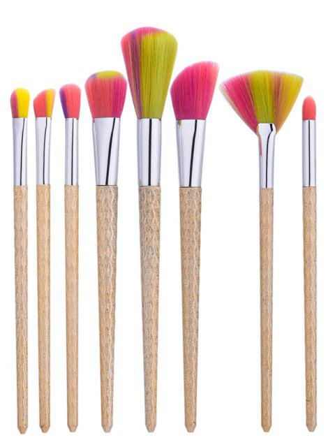 ladies Wave Handle Nylon Makeup Brushes Set -   Mobile