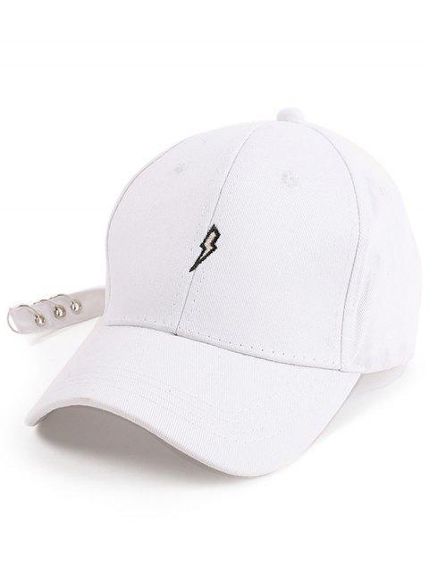 Lightning Broderie Circles Long Tail Hat - Blanc  Mobile