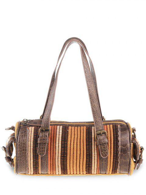 womens Tribal Cylinder Shaped Canvas Tote Bag -   Mobile