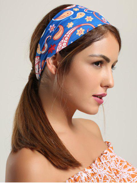 new Paisley Pattern Sport Headband - BLUE  Mobile