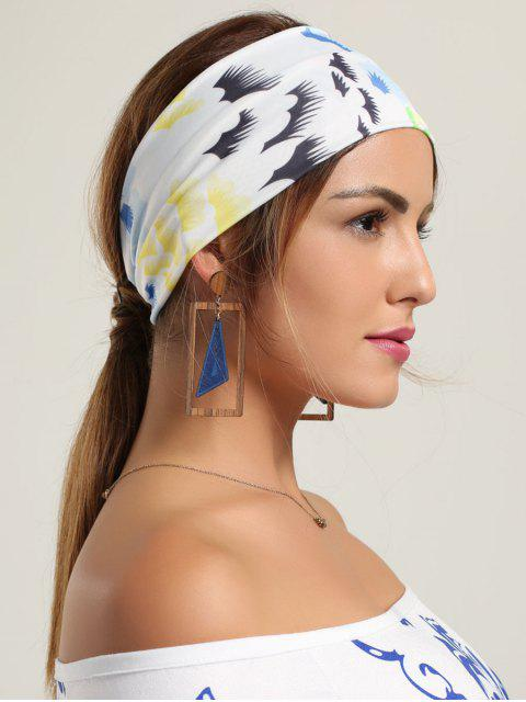 Multicolor Pattern Sport Headhand - Blanc  Mobile