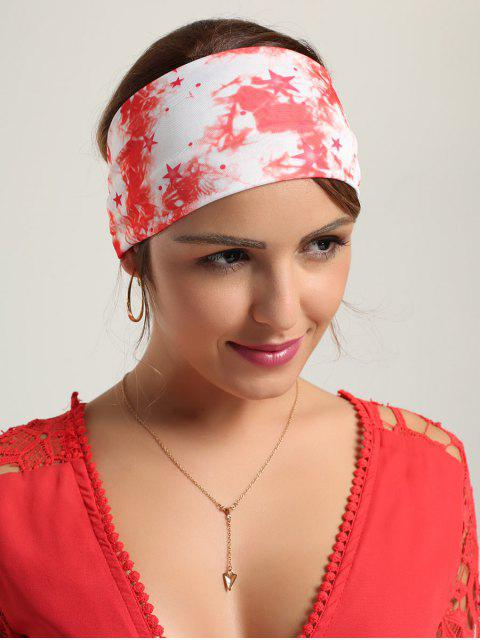 outfit Smog Pattern Printed Sport Headband - RED  Mobile