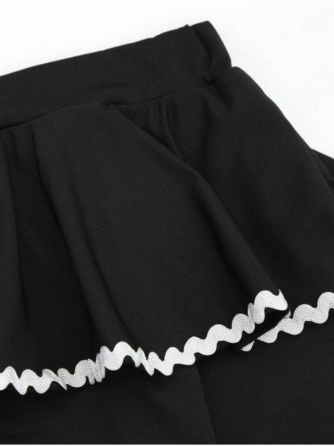 T-shirt à flûte à manches Flair à l'épaule - Noir L Mobile