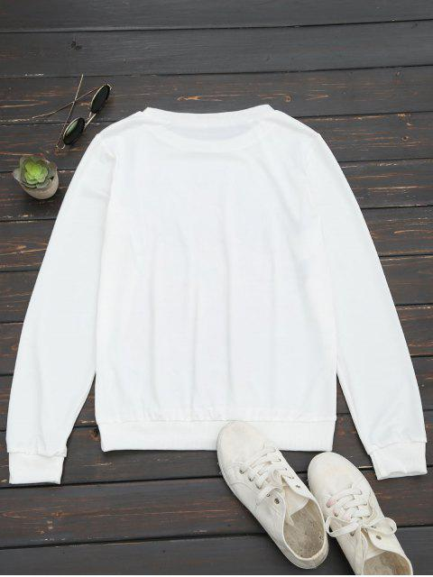 fashion Floral Letter Print Long Sleeve Tee - FLORAL S Mobile