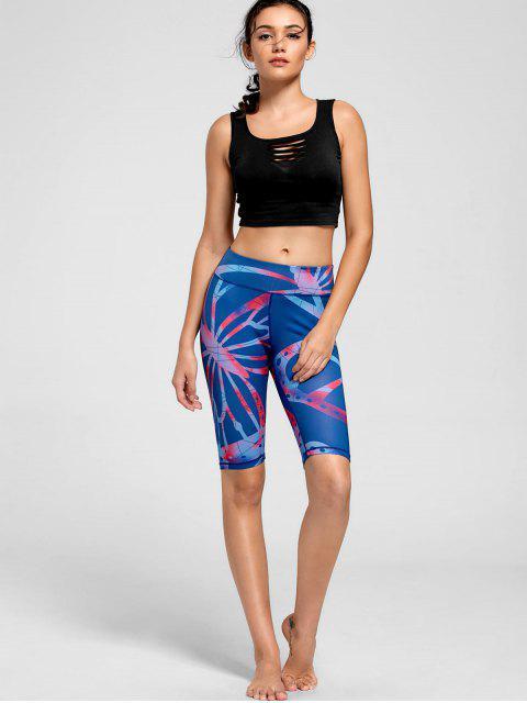 Shorts de conditionnement physique Active Pattern - Bleu S Mobile
