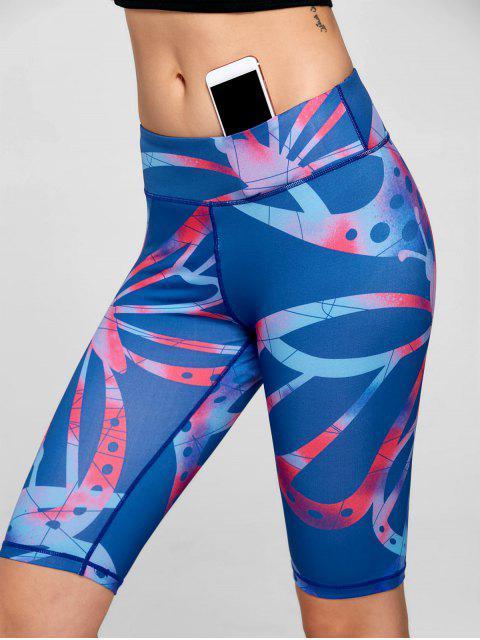 Shorts de conditionnement physique Active Pattern - Bleu L Mobile