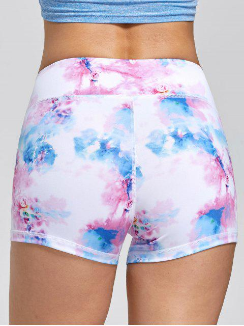 online Tie Dye Sports Mini Tights - PINK M Mobile