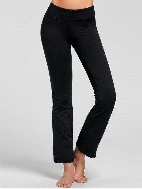 outfit Stretch Bootcut Yoga Pants with Pocket - BLACK L Mobile
