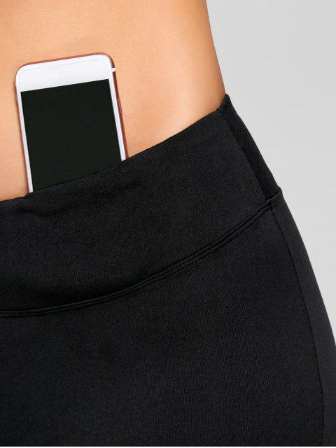 outfits Stretch Bootcut Yoga Pants with Pocket - BLACK XL Mobile