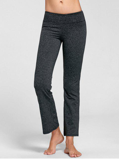 ladies Marled Bell Bottom Yoga Pants - DEEP GRAY M Mobile