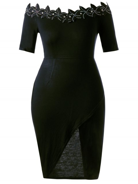 Robe à cravate ajustable en taille Plus - Noir 5XL Mobile
