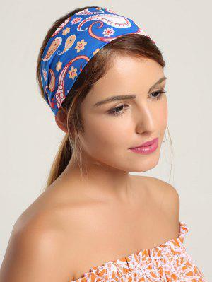 Paisley Pattern Sport Headband - Blue