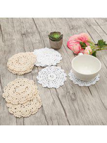 10 قطع جولة شكل اليدوية الزهور الكروشيه المفارش -