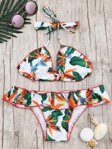 Juego De Bikini Con Refuerzo Acolchado Y Acolchado - Multicolor L