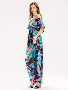 9489db12a07 34% OFF  2019 Flounce Off The Shoulder Floral Maxi Dress In FLORAL ...