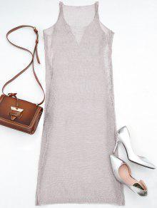 فستان سترة معدني شبكي شاطئ غطاء - أرجواني