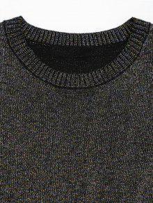 De Redondo Cuello Con De Camiseta L Multi Brillo Dobladillo tUqSAWTvw