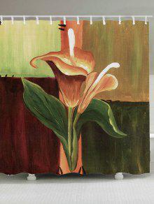 النفط اللوحة الأزهار للماء دش الستار - W71 بوصة * L79 بوصة