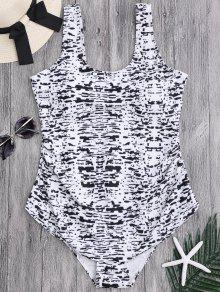 Tie Dyed Scoop Plus Size Swimwear - Xl