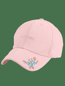 ... Letters Flowers Embroidery Baseball Hat