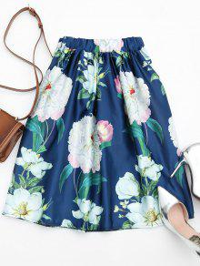 Floral Print A Line Skirt FLORAL: Skirts ONE SIZE | ZAFUL