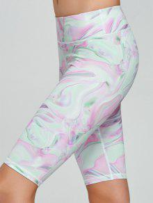 Fresh Pattern Running Tight Shorts - Pink Xl