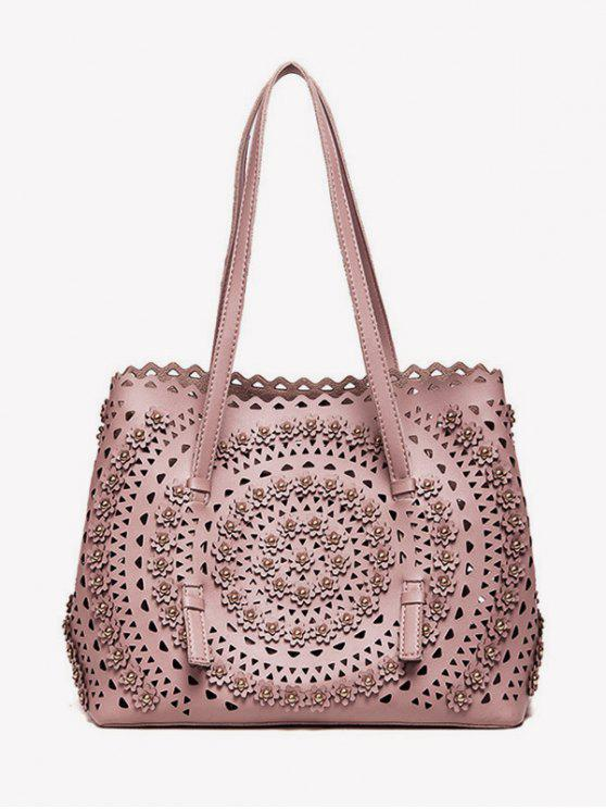chic Cut Out Rivet Shoulder Bag - PINK
