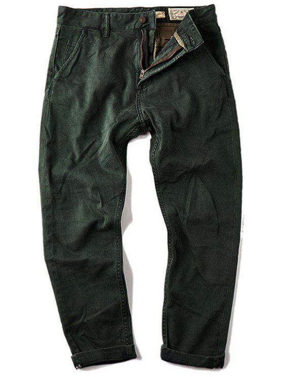 Jeans Carotte Homme 7/8 - Vert 36